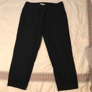 Ann Taylor Loft navy blue Julie fit ankle pants